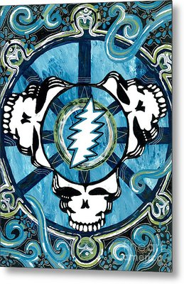 If The Thunder Dont Get Ya Then The Lightnin Will Metal Print by Kevin J Cooper Artwork