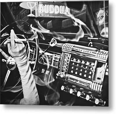 If You Meet The Buddha On The Road Metal Print by Larry Butterworth