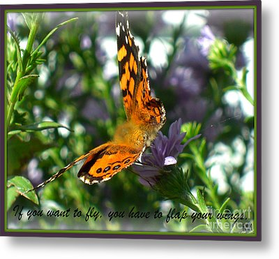 Metal Print featuring the photograph If You Want To Fly by Heidi Manly