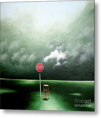 Metal Print featuring the painting If You Were Waiting For A Sign This Is It by Ric Nagualero