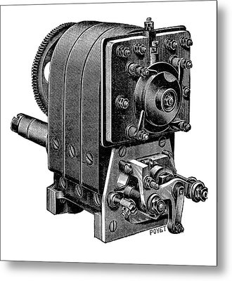 Ignition Magneto Metal Print by Science Photo Library