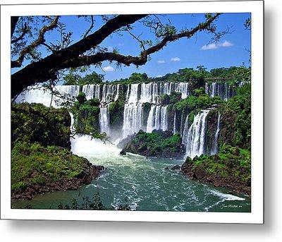 Iguazu Falls In Argentina Metal Print
