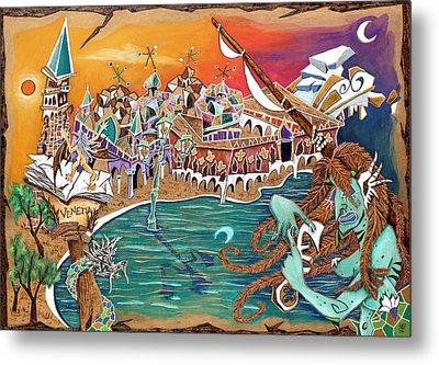 Il Bacio Di S. Marco - Venice Landscape Metal Print by Arte Venezia