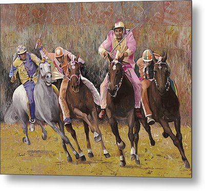 il palio dell'Assunta Metal Print by Guido Borelli