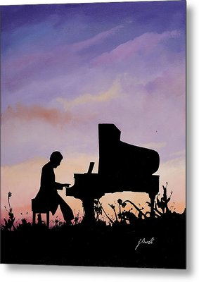 Il Pianista Metal Print by Guido Borelli