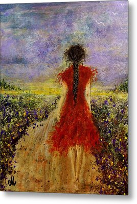 Metal Print featuring the painting I'll Be There... by Cristina Mihailescu