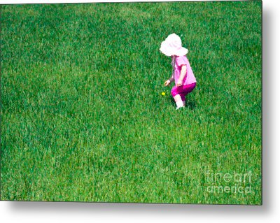 I'll Pick This Pretty Flower For You Metal Print