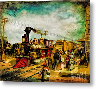 Illinois Central Railroad 1882 Metal Print by Lianne Schneider