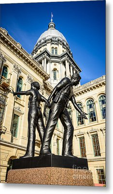 Illinois Police Officers Memorial In Springfield Metal Print by Paul Velgos