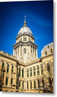 Illinois State Capitol In Springfield Illinois Metal Print by Paul Velgos