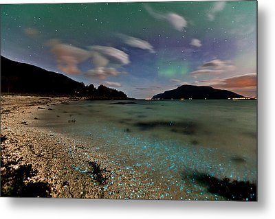 Illuminated Beach Metal Print