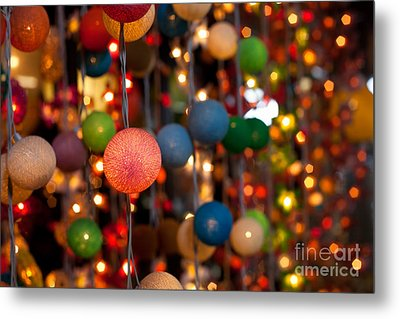 Illuminated Decoration  Metal Print by Fototrav Print
