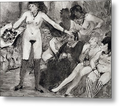 Illustration From La Maison Tellier By Guy De Maupassant  Metal Print