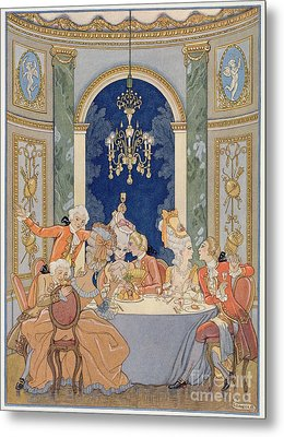 Illustration From 'les Liaisons Dangereuses'  Metal Print by Georges Barbier