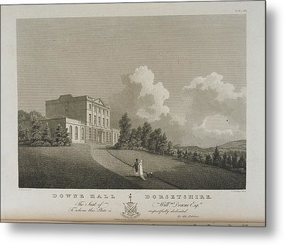 Illustration Of Downe Hall Metal Print by British Library