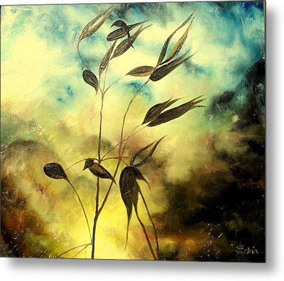 Metal Print featuring the painting Ilusion by Sorin Apostolescu