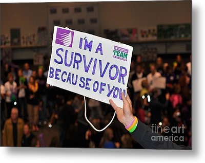 Metal Print featuring the photograph I'm A Survivor Because Of You by Debby Pueschel