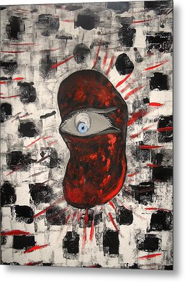 Metal Print featuring the painting Im Auge Des Betrachters by Nico Bielow