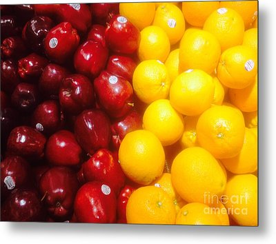 I'm Comparing Apples And Oranges Metal Print