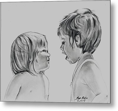 I'm Not Listening Metal Print by Barb Baker
