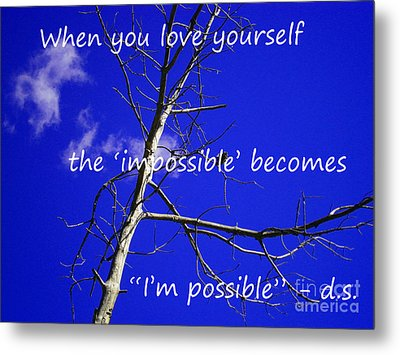 I'm Possible Metal Print by Drew Shourd
