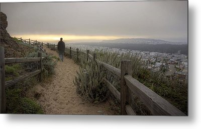Metal Print featuring the photograph I'm Walking In The Wind Looking At The Sky by Peter Thoeny
