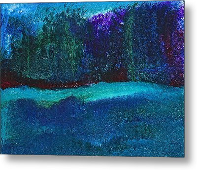 Metal Print featuring the painting Imaginary Forest by Tracey Myers