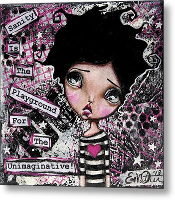 Imagination Metal Print by Lizzy Love of Oddball Art Co