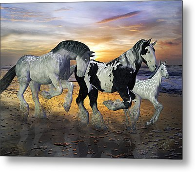 Imagination On The Run Metal Print