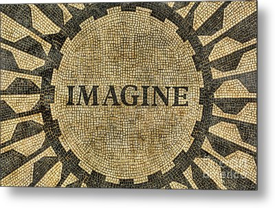 Metal Print featuring the photograph Imagine - John Lennon by Lee Dos Santos