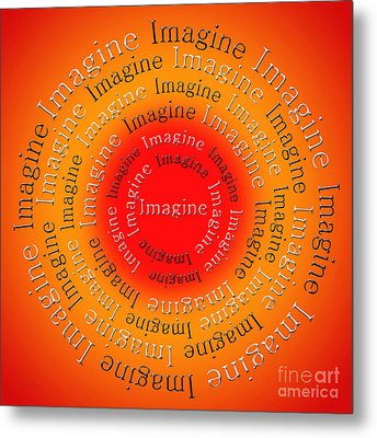 Imagine 5 Metal Print by Andee Design