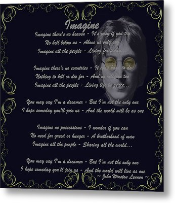 Imagine Golden Scroll Metal Print by Movie Poster Prints