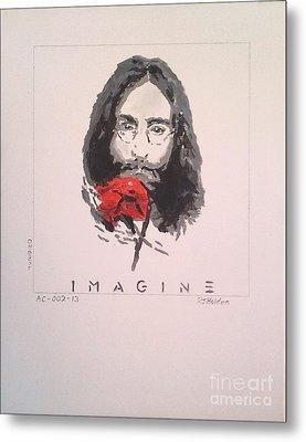 Imagine - John Lennon 1973 Metal Print by Richard John Holden RA