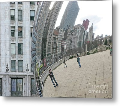 Metal Print featuring the photograph Imaging Chicago by Ann Horn