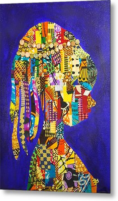 Metal Print featuring the tapestry - textile Imani by Apanaki Temitayo M