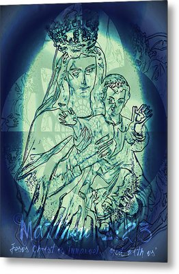 Immanuel God With Us Metal Print by Sharon Soberon