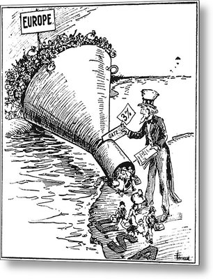 Immigration Cartoon, 1921 Metal Print by Granger