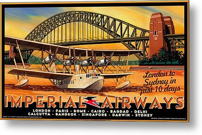 Imperial Airways 2 Metal Print by Clive Norton