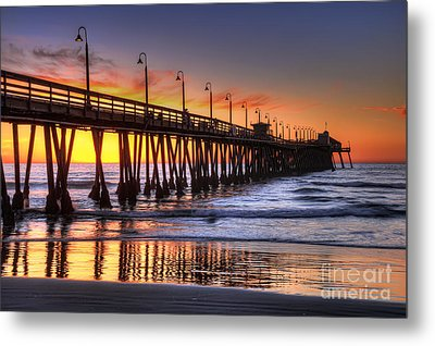 Imperial Beach Pier Metal Print by Eddie Yerkish