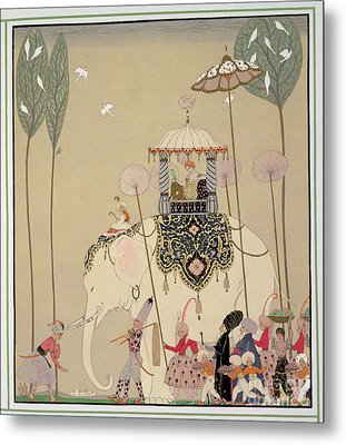 Imperial Procession Metal Print by Georges Barbier