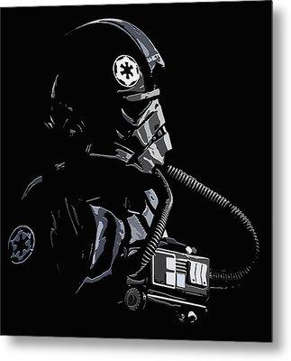 Imperial Tie  Pilot 2 Metal Print