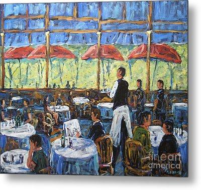 Impresionnist Cafe By Prankearts Metal Print by Richard T Pranke