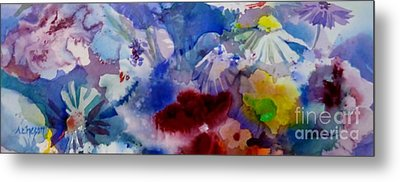Impression Of  Flowers Metal Print by Donna Acheson-Juillet