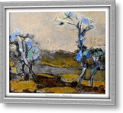 Metal Print featuring the painting Impression by Pemaro