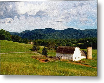 Metal Print featuring the painting Impressionist Farming by John Haldane