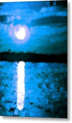Impressionist Moonlight Metal Print by Bruce Nutting