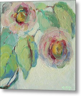 Impressionist Roses  Metal Print by Mary Wolf