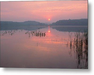 Impressionist Sunrise Great Meadows Concord Ma Metal Print