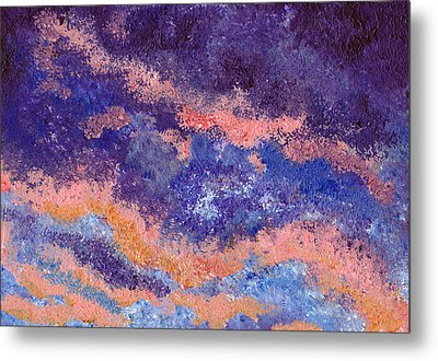 Impressionist Sunset Metal Print by Tricia Griffith