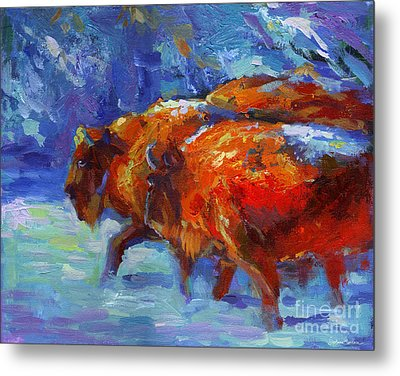 Impressionistic Buffalo Painting Metal Print